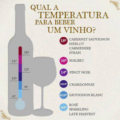 Qual a temperatura ideal para beber um vinho?