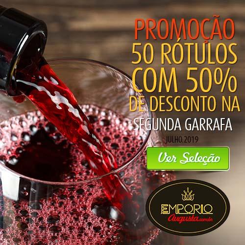 Promoção do dia: 50 rótulos com 50% de desconto na segunda garrafa!