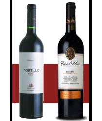 COMBOBOX PORTILLIO Pinot  + CASA SILVA Reserva Cuvée Rosé
