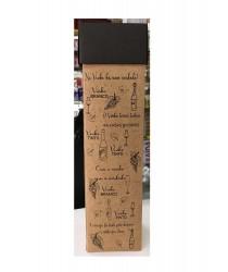 Embalagem Personalizada para uma garrafa com tampa