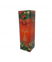 Embalagem Boas Festas para uma garrafa